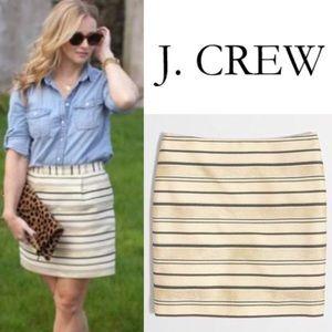 J. Crew Shiny Striped Skirt